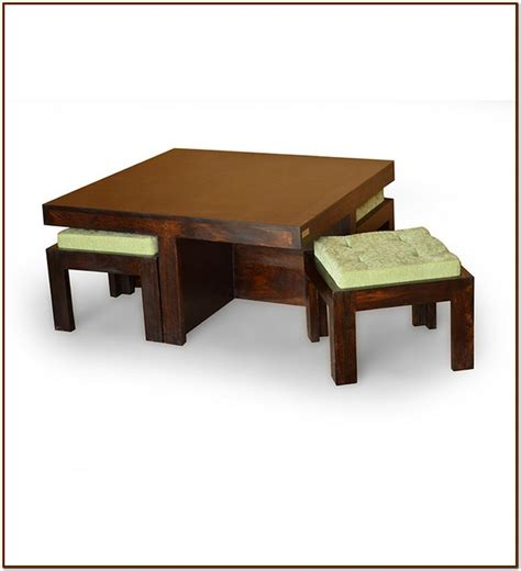 Coffee Table With 2 Stools by Coffee Table With Stools For Your Home For Coffee