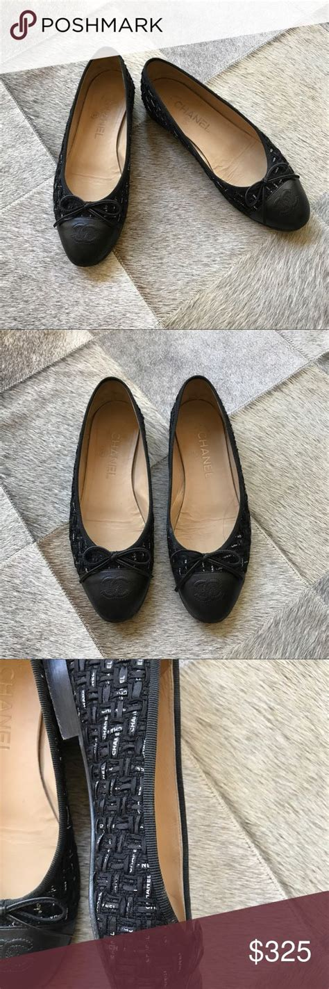 Tweed Ribbon Vnc Flat Shoes best 20 chanel shoes flats ideas on