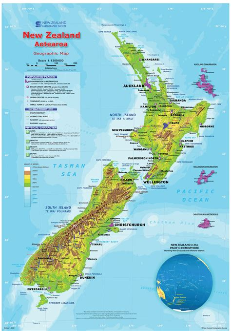 geographic map of new zealand