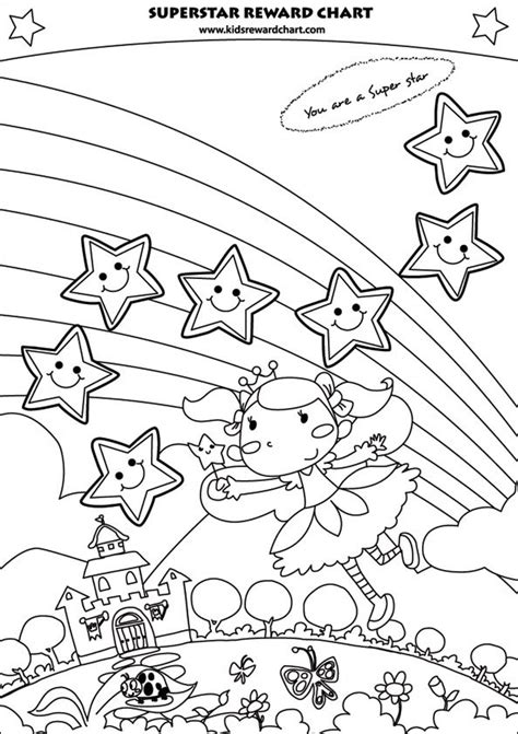 printable reward charts to colour in free printable superstar reward chart for girls