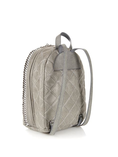 Stelan Grey stella mccartney falabella mini faux leather backpack in