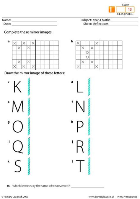 Reflection Worksheet Answers by Reflections Worksheets Stinksnthings