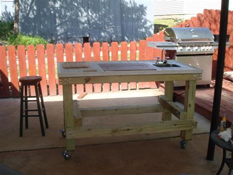 Patio Table Grill Outdoor Grill Prep Table Plans Modern Patio Outdoor
