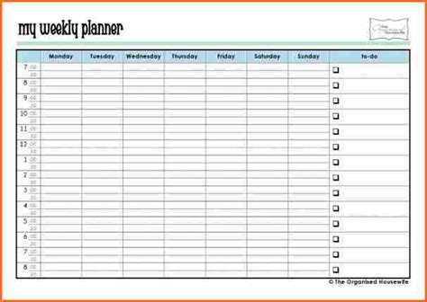 printable time planner weekly time planner download driverlayer search engine