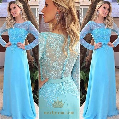 baby blue floor l baby blue lace bodice chiffon floor length prom dress with