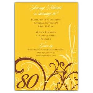 cabiri gold 80th birthday invitations paperstyle
