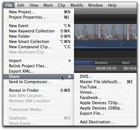 final cut pro how to export how to export video from final cut pro x