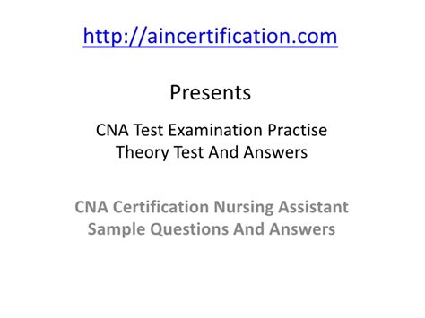cna practice questions and answers
