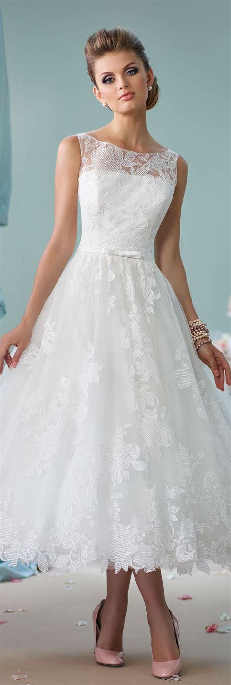 Schlichte Kurze Brautkleider by Tea Length Wedding Dress 116136 Enchanting By Mon Cheri