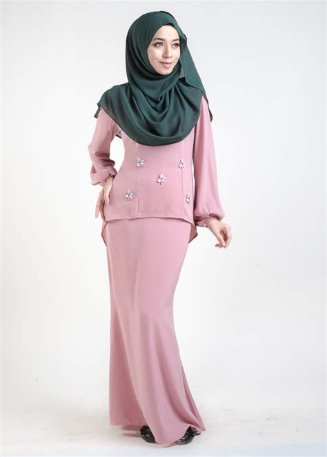Baju Kurung Pink Lembut baju kurung moden asyura dusty pink lovelysuri