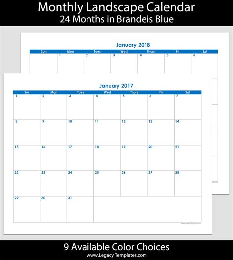 Printable Monthly Calendar 2017 18 | search results for 2015 printable calendar 11 in x 8 18