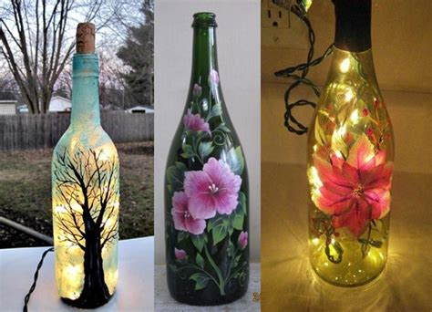 vasi e bottiglie vetro decopuage su vasi e bottiglie di vetro