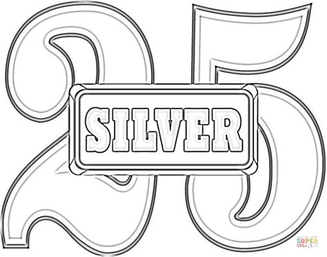 coloring pages for wedding anniversary anniversary 25 silver wedding coloring page free