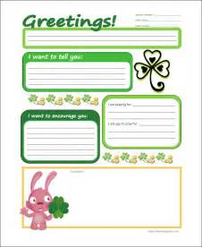 templates for children 10 letter templates for free sle exle