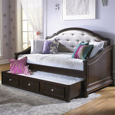 kids day beds girls glam daybed dark cherry kids daybeds at hayneedle