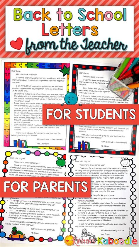 Parent Letter For New School Year 25 best ideas about parent letters on letter