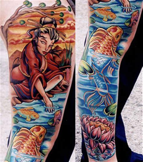 geisha tattoo new school paradise tattoo gathering tattoos tony ciavarro