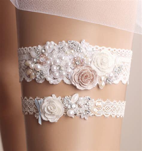 bridal wedding garters wedding garter set bridal garter set lace garter by
