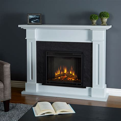 kipling electric fireplace mantel package in white 6030e w
