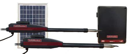 liftmaster dual swing gate opener liftmaster chamberlain la 412 d dual swing solar gate