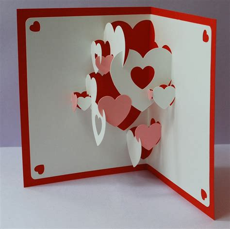 how to make a valentines pop up card collage pop up cards do it yourself set of