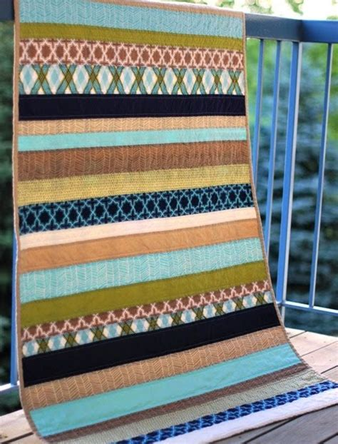 Striped Quilt by Bijou Lovely Modern Meadow Stripe Quilt