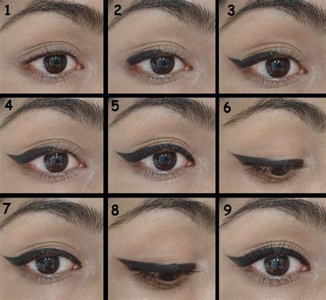 cat eyeliner tutorial step by step cat eye makeup