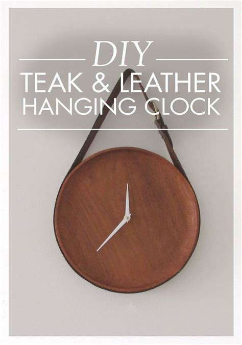 diy leather belt clock hanger 1000 images about diy bits of this and that on crafts bottle and wax paper