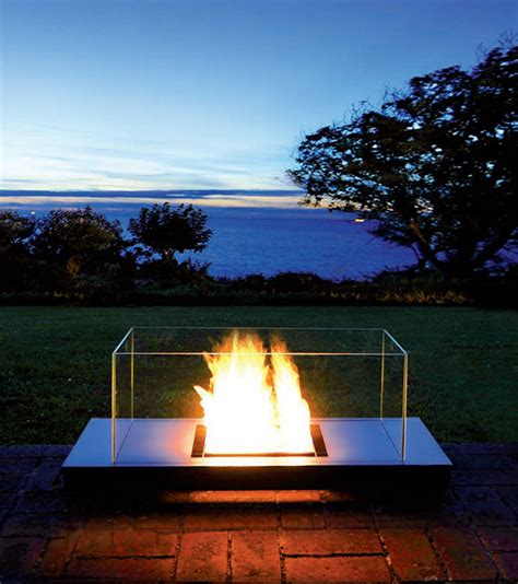 ethanol fireplace from radius design modern outdoors
