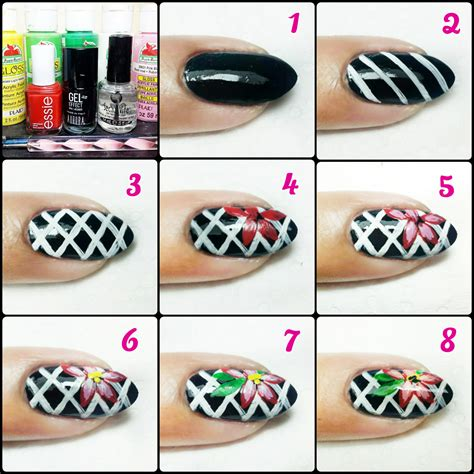 Nail Tutorial by Nail Tutorial Corset And Flowers Nail It