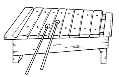 dibujos para colorear xilofono dibujos ideia criativa xilofone instrumento musical em