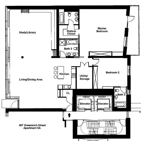 nyc building floor plans floor plan stylish apartment in new york city