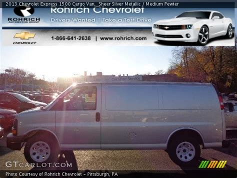 2013 chevrolet express 1500 cargo van photo male models picture sheer silver metallic 2013 chevrolet express 1500 cargo van medium pewter interior