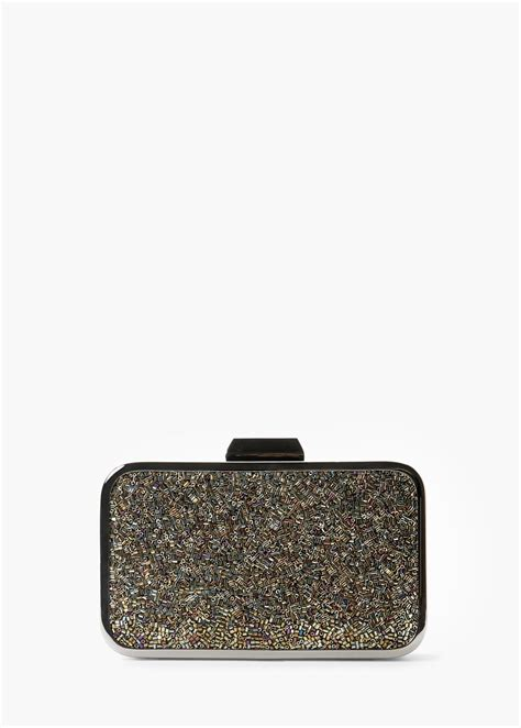 Panel Clutch clutch panel abalorios mujer clutch bags bag and gray