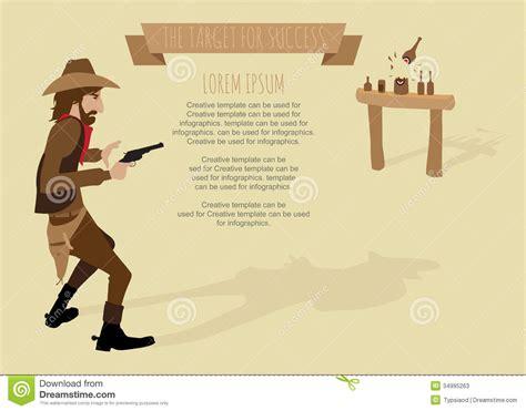 printable cowboy targets cowboy shoot the gun target for success stock photos