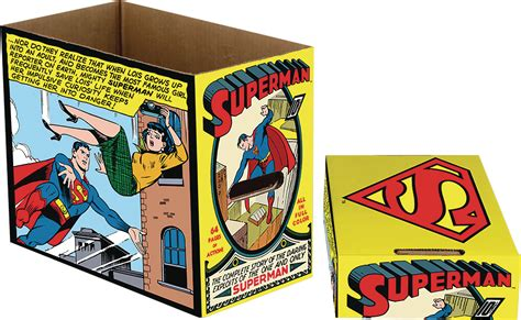 comic book storage comic storage box with superman panel brian carnell com