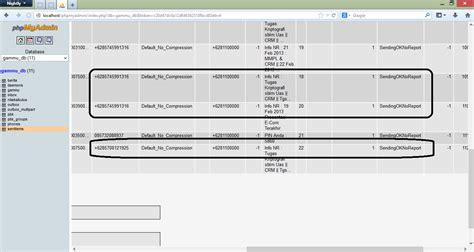 membuat database gammu cara membuat sms gateway auto reply dengan gammu dan php