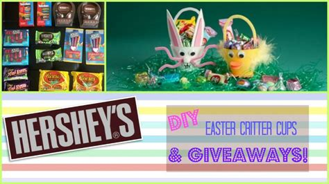 Hershey Giveaway - hershey s diy easter critter cups giveaways
