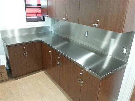 How To Stainless Steel Countertops by Stainless Steel Countertop With Backsplash Jnl Stainless