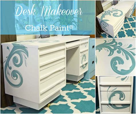How To Paint A Desk White by Painted Desk With Chalk Paint 174 Just Paint It
