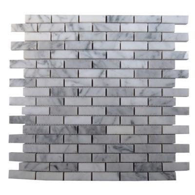 splashback tile big brick white 3 in x 6 in x 8