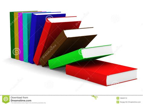 the of falling books falling books isolated 3d image stock photos image