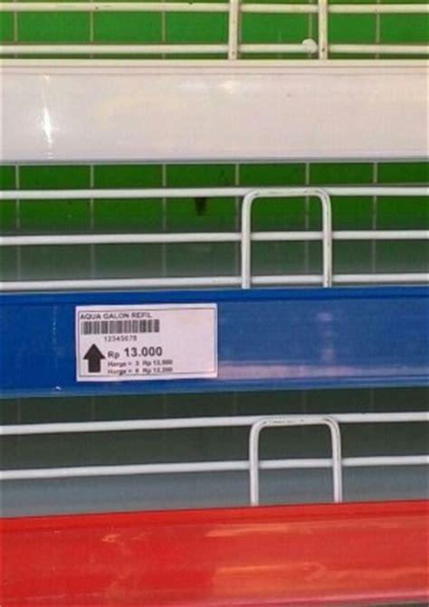 Label Rak Minimarket harga price tag price card label holder