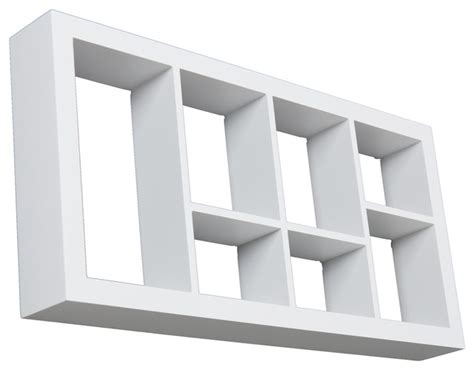collins display shelf white contemporary display and