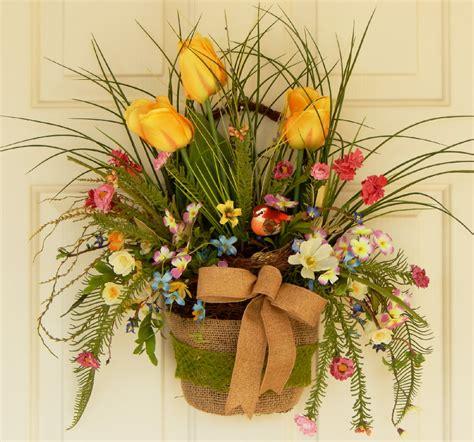 wreath wall decor wreath twig basket door decor wall hanging by