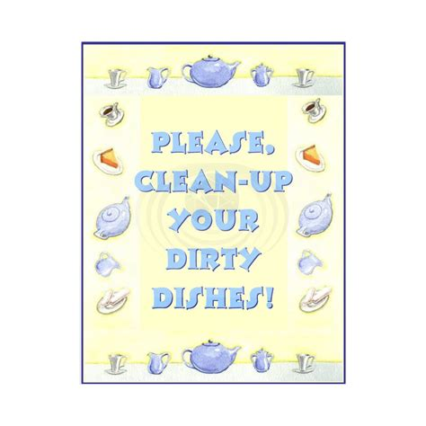 up your signs clean up your dishes sign mayda mart