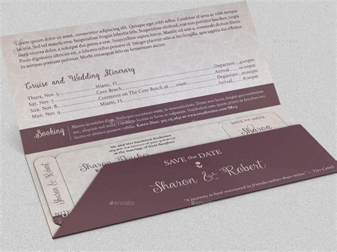 Wedding Boarding Pass Invitation Template by Godserv2