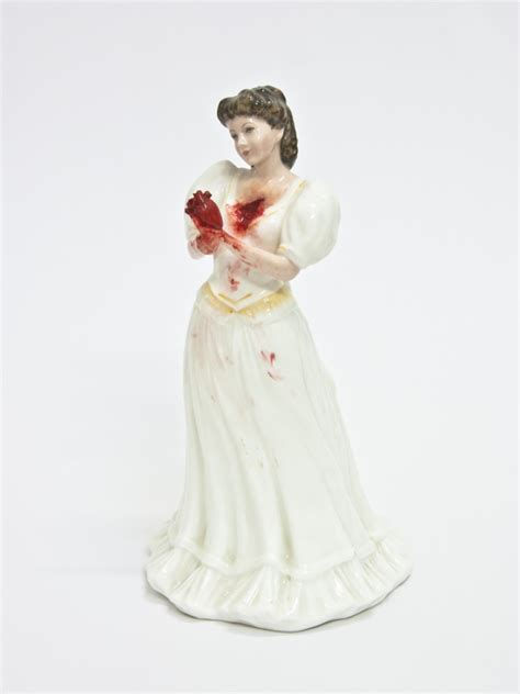 porcelain doll figurines feminist artist gives porcelain dolls an awesomely