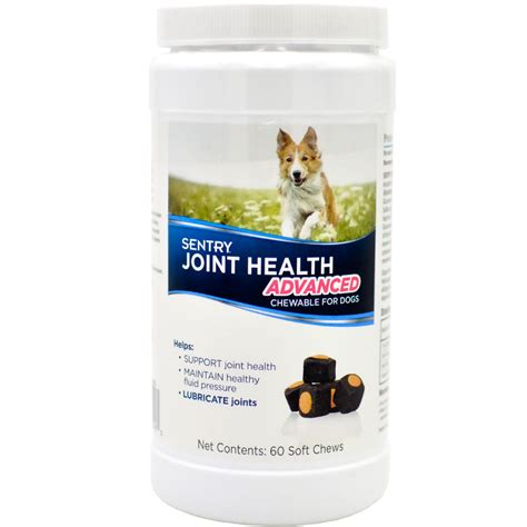 joint health for dogs sentry joint health advanced chewable for dogs 60 soft chews