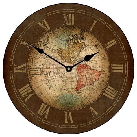 houzz clocks world map clock reviews houzz
